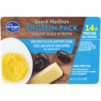 Kroger® Peeled Egg White Cheddar Cheese Dark Chocolate Almonds Protein Snack Medley