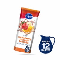 Kroger® Lite Strawberry Orange Banana Instant Drink Mix Packets 6 Count