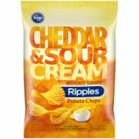 Kroger® Cheddar & Sour Cream Ripples Potato Chips