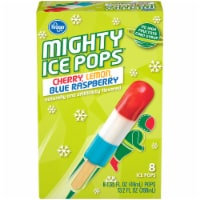 Kroger® Cherry Lemon Blue Raspberry Flavor Mighty Pops - 8 ct / 1.65 fl oz