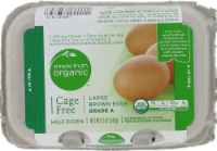 Simple Truth Organic™ Cage Free Grade A Large Brown Eggs