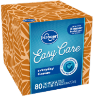 Kroger® White Unscented Facial Tissues Cube - 80 ct
