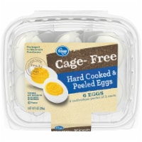 Kroger® Cage-Free Hard Cooked & Peeled Eggs 6 ct