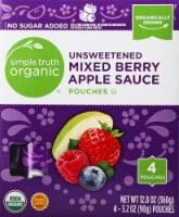 Simple Truth Organic™ Unsweetened Mixed Berry Apple Sauce Pouches 4 Count