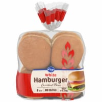Kroger® White Hamburger Buns 8 Count