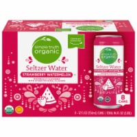 Simple Truth Organic™ Strawberry Watermelon Seltzer Water - 8 cans / 12 fl oz