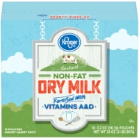 Kroger® Instant Non-Fat Dry Milk Pouches 10 Count
