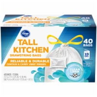 Kroger® Tall Kitchen Clean Linen Scented 13 Gallon Drawstring Bags