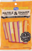 Kroger Marble & Sharp Cheddar Cheese Sticks
