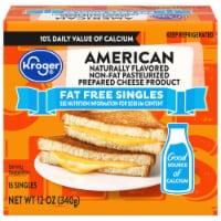 Kroger® Fat Free American Singles - 12 ct / 12 oz
