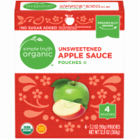Simple Truth Organic™ Unsweetened Applesauce Pouches 4 Count