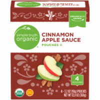 Simple Truth Organic® Cinnamon Applesauce Pouches