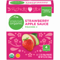 Simple Truth Organic® Strawberry Applesauce Pouches 4 Count
