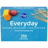 Kroger®  Round Wooden Toothpicks 250 Count