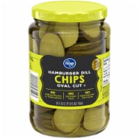 Kroger® Hamburger Oval Dill Pickle Chips