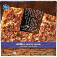 Kroger® Crispy Thin Crust Sicilian Recipe Pizza - 24.8 oz