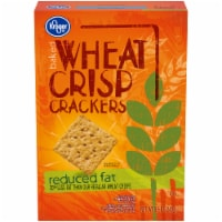 Kroger®  Reduced Fat Baked Wheat Crisp Crackers Box