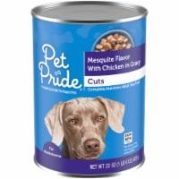 Pet Pride® Mesquite Flavor with Chicken Cuts in Gravy Wet Dog Food - 22 oz