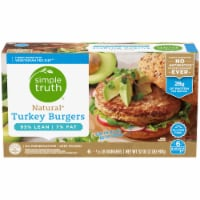 Simple Truth™ Natural Turkey Burgers 6 Count