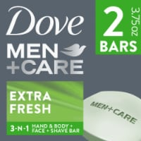 Dove Men+Care Extra Fresh Body & Face Bars