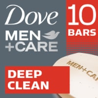 Dove Men + Care Deep Clean Body + Face Bars 10 Count