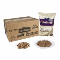 Santiago Whole Vegetarian Refried Beans - 27.07 oz. pouch, 6 pouches per case