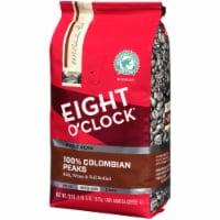 Eight O'Clock 100% Colombian Peaks Medium Roast Whole Bean Coffee