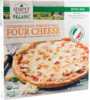 Simply Roundy's Organic Authentic Italian Thin Crust Four Cheese Pizza - 13.58 oz