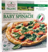 Simply Roundy's Organic Authentic Italian Thin Crust Baby Spinach Pizza