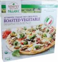 Simply Roundy's Organic Authentic Italian Thin Crust Roasted Vegetable Pizza