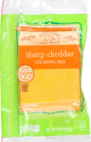 Roundy's Sharp Cheddar Natural Cheese Slices
