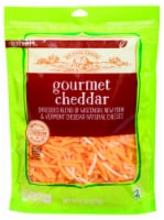 Roundy's Gourmet Cheddar Shredded Cheese - 8 oz