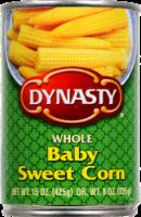 Dynasty Whole Baby Sweet Corn - 15 Oz