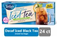 Tetley Decaffeinated Iced Tea Blend Tea Bags 24 Count