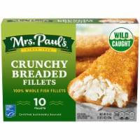 Mrs. Paul's Crunchy Fish Fillets 10 Count - 19 oz