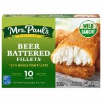 Mrs. Paul's Beer Battered Fillets 10 Count - 10 ct / 19.1 oz