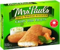 Mrs. Paul's Crispy Fish Fillets 10 Count - 19.45 oz