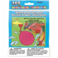 Water Bomb Balloons W/Nozzle 200/Pkg-Multicolor - 1
