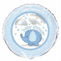 Umbrellaphants Baby Shower - Blue Round Foil Balloon 18 Inches