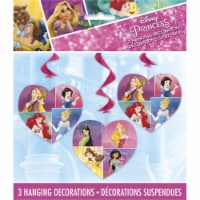 Disney Princess Dream Big Hanging Swirl Decorations - 3ct