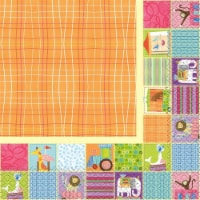 Unique Industries 641843 Circus Animal Lunch Napkins - Pack of 16 - 1