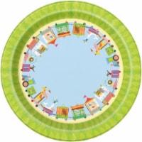 Unique Industries 641845 7 in. Circus Animal Dessert Plate - Pack of 8 - 1