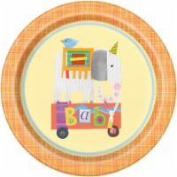 Unique Industries 641846 9 in. Circus Animal Lunch Plate - Pack of 8 - 1
