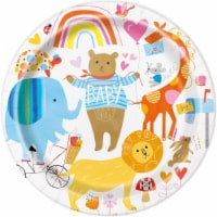 Unique Industries 641886 7 in. Zoo Baby Dessert Plate - Pack of 8