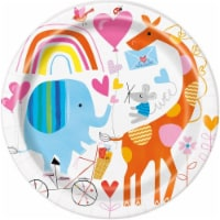 Unique Industries 641887 9 in. Zoo Baby Lunch Plate - Pack of 8