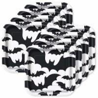Unique Industries 301574 Black Bats Halloween 7 Dessert Plates - 8 Piece - 8
