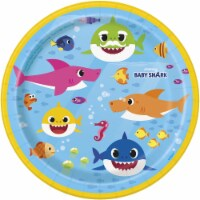 Baby Shark 7 Inch Plates [8 Per Package] - 1