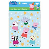 Peppa Pig Plastic Loot Bags 8ct