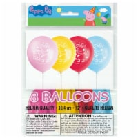 Peppa Pig Birthday Party Latex Balloons 8ct