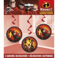 The Incredible 2 Movie Hanging Swirl Decorations